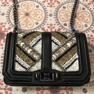 SOLD OUT! Rebecca Minkoff black bead wonderbox bag